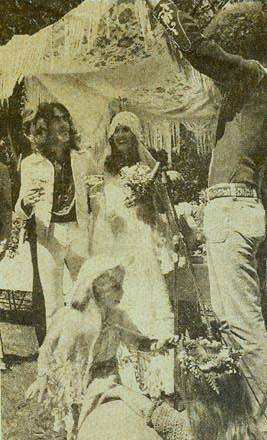 Pete Sears and Jeanette Dilger at their Three Groves wedding in June 1975