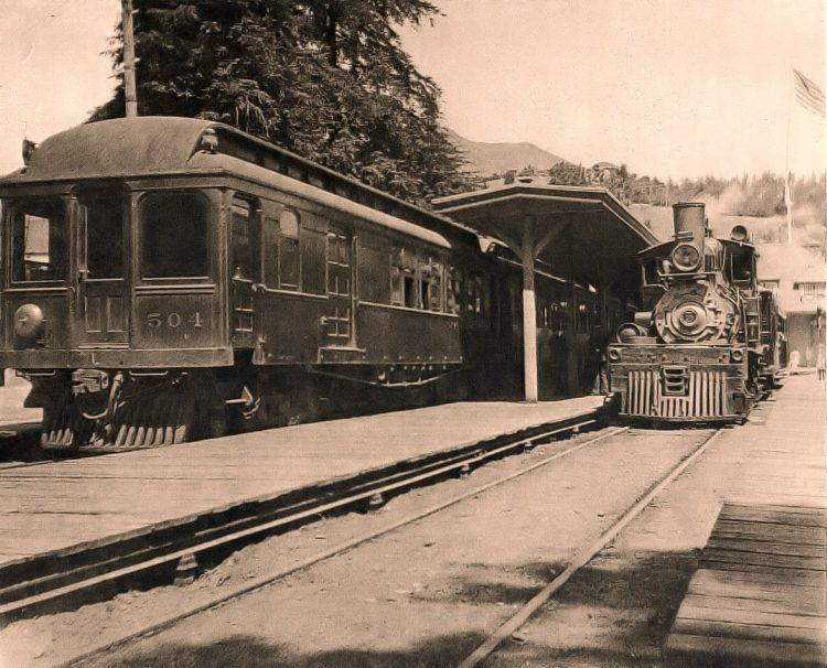Undated photo of the train depot