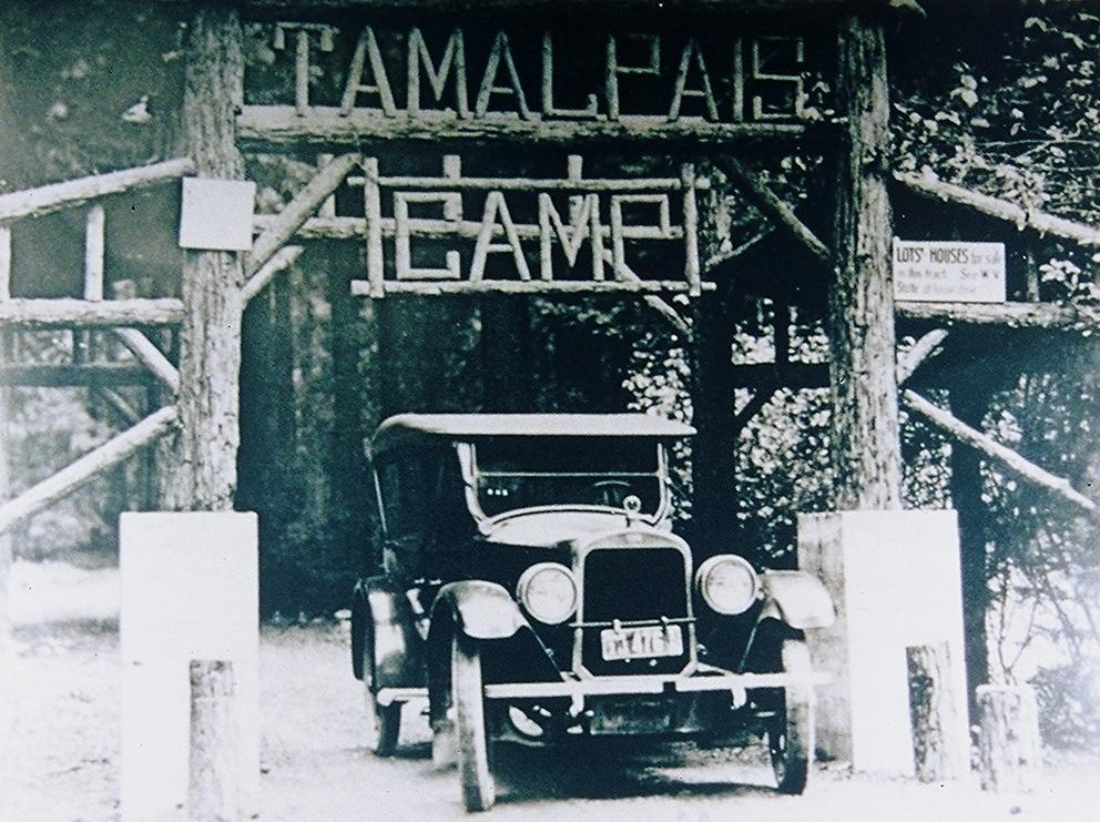 Entrance to Tamalpais Camp in the 1930s.  >  click to enlarge