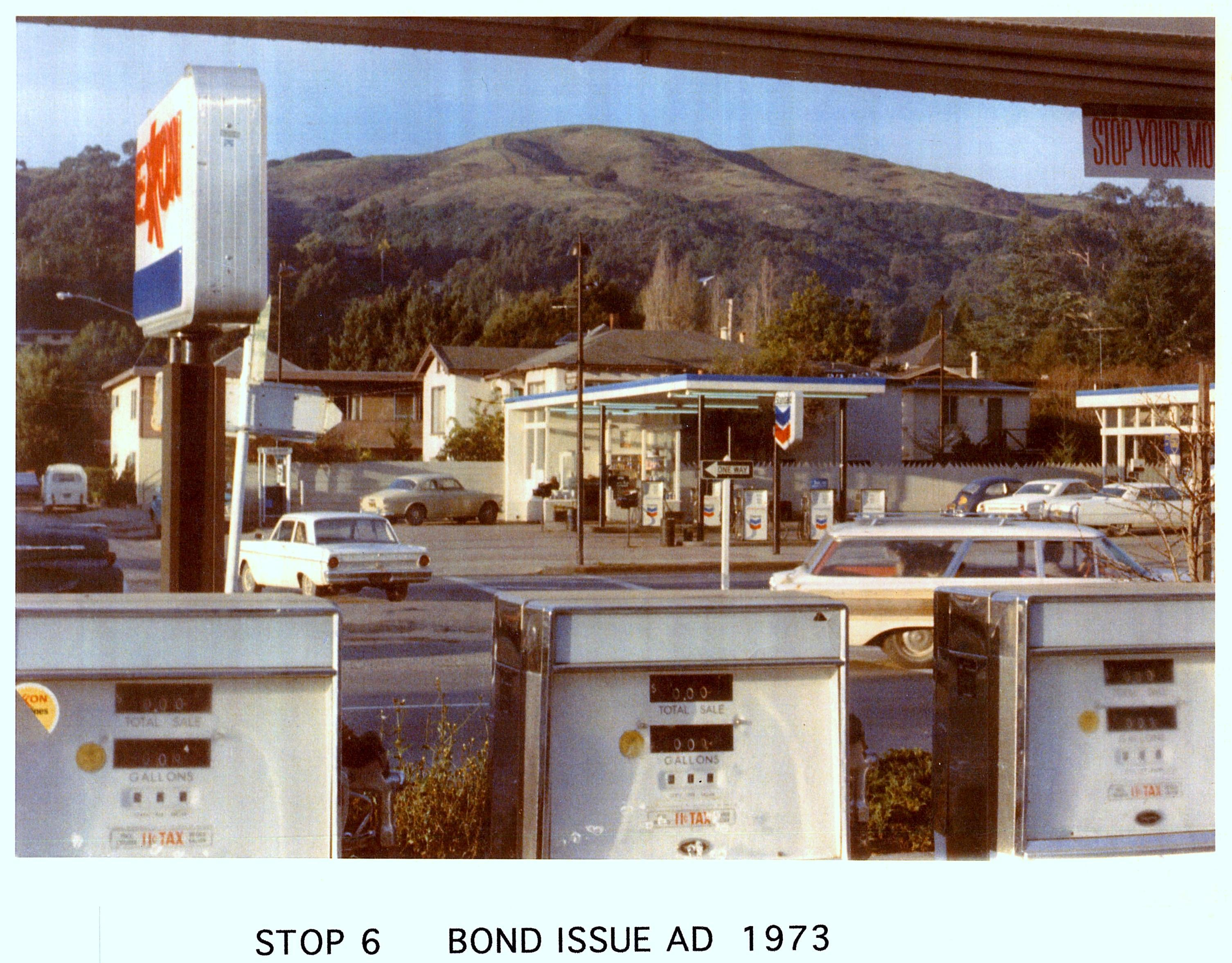 Exxon and Chevron Stations — 1973