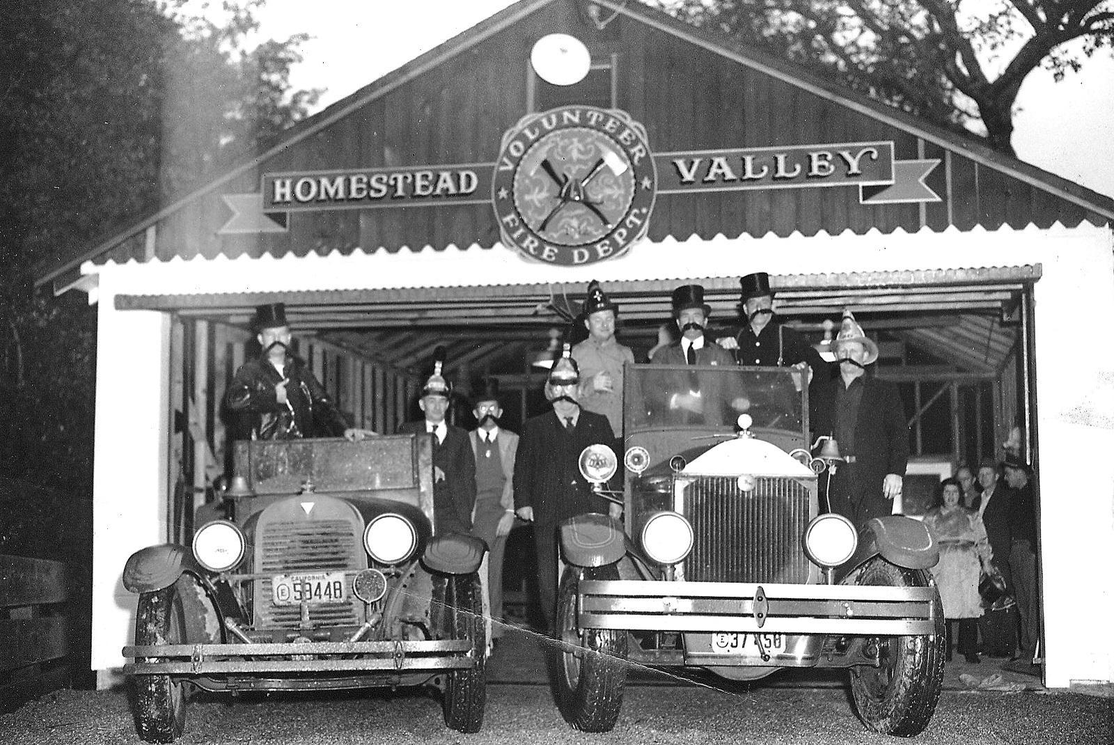 Homestead Valley Volunteer Fire Dept. New Year's Eve Celebration, 12-31-1949. > click to enlarge