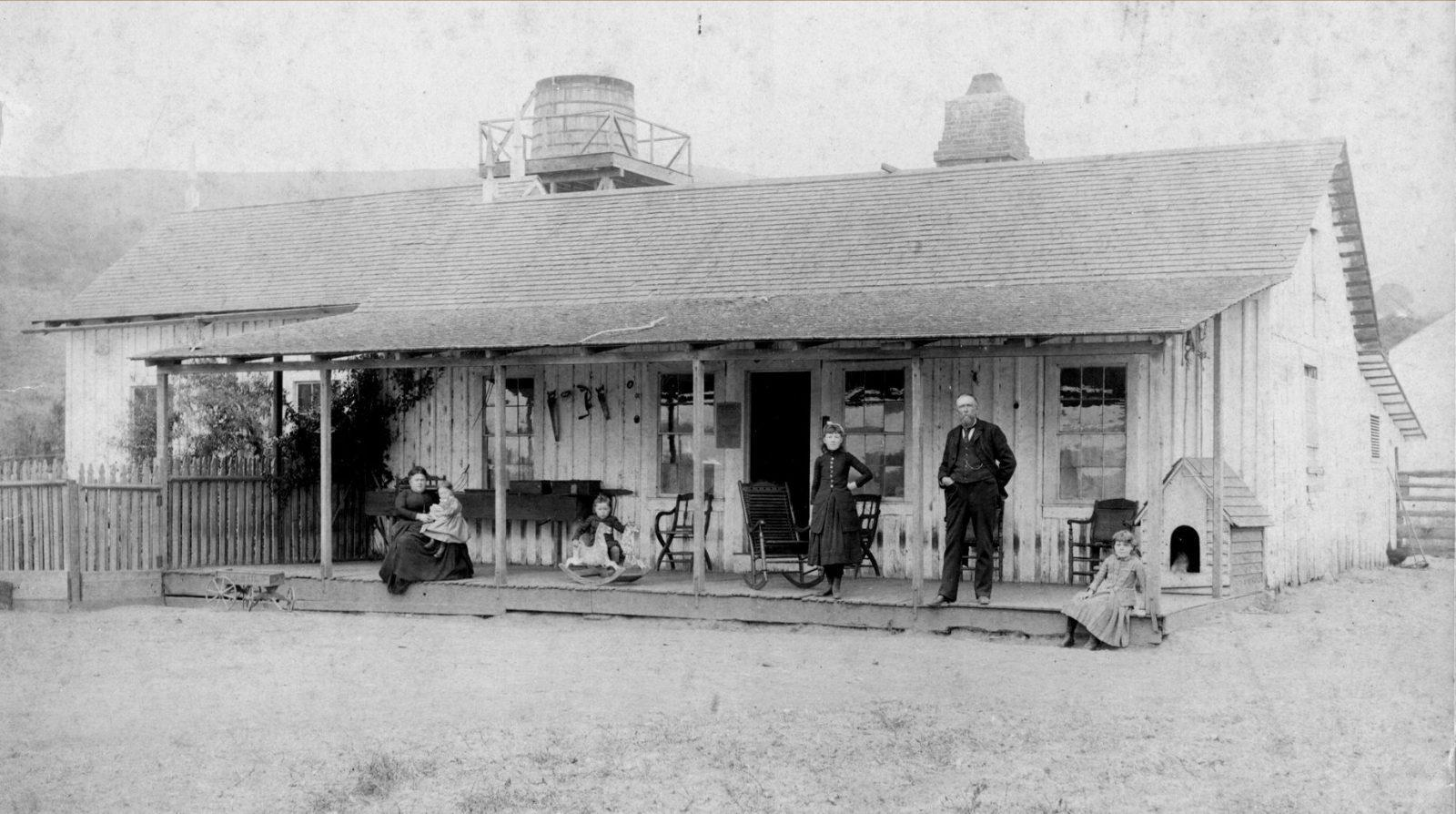 "Samuel Throckmorton's Rancho Sausalito lodge ""The Homestead"" in 1888. > click to enlarge"