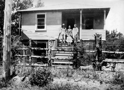 The Silva family in front of their home at 304 LaVerne in the mid-1920's