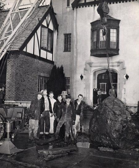 Tony Brabo and crew after placing it at Mill Valley's City Hall in 1953. > click to enlarge