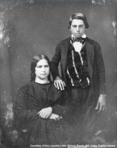 Hilaria with son John Joseph Reed. MVN1389A - Courtesy of the Lucretia Little History Room, Mill Valley Public Library