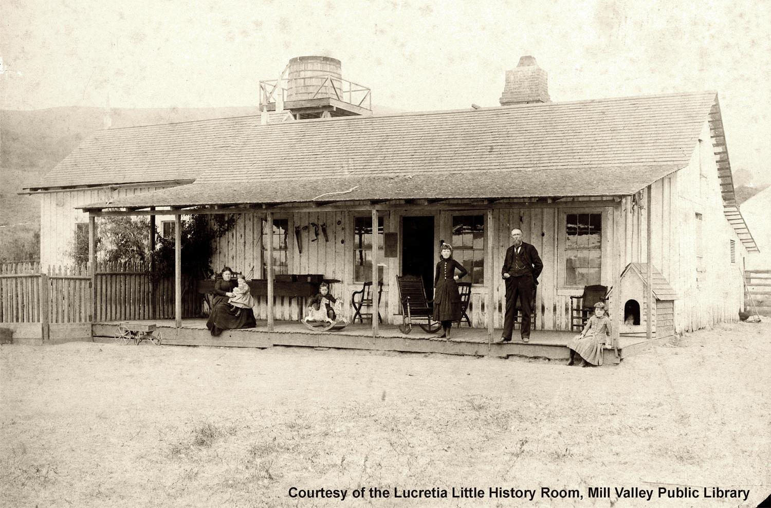 Jacob Gardner & family, The Homestead, 1888