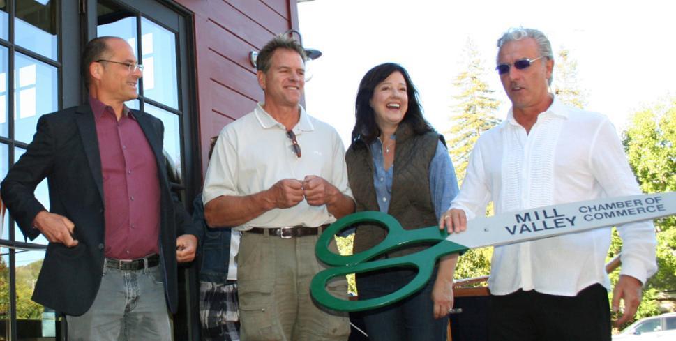 2013 Guideboat Co ribbon cut 2 Mayor Berman Matt Jan Mathews Daniel Escalzo