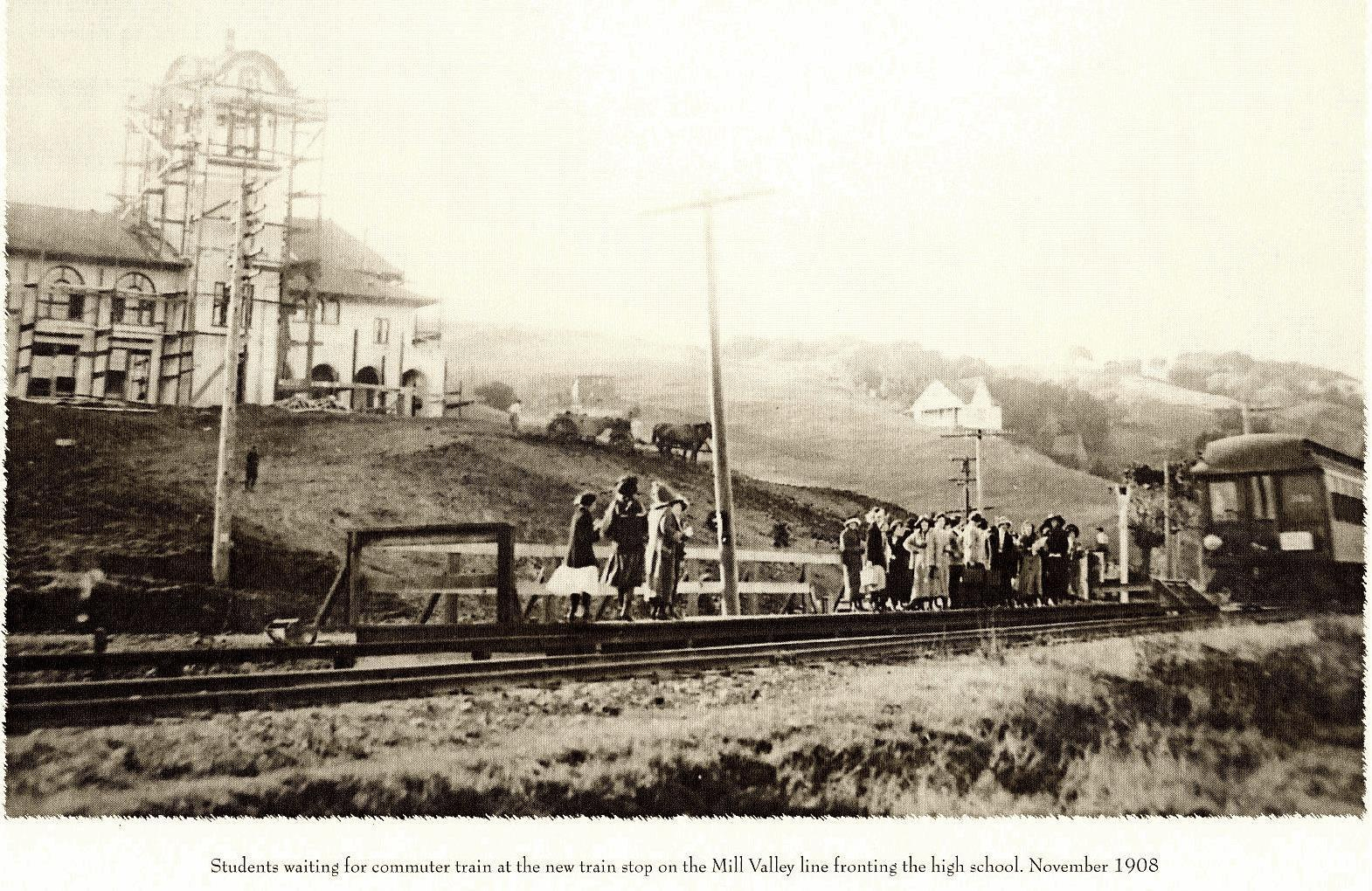 Train Stop November 1908 > click to enlarge