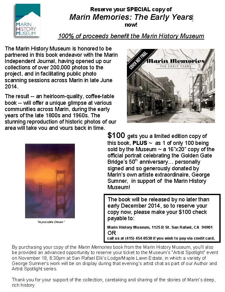 Marin Memories Book Offer