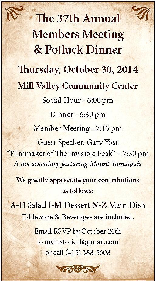 MVHS 2014 Dinner Poster