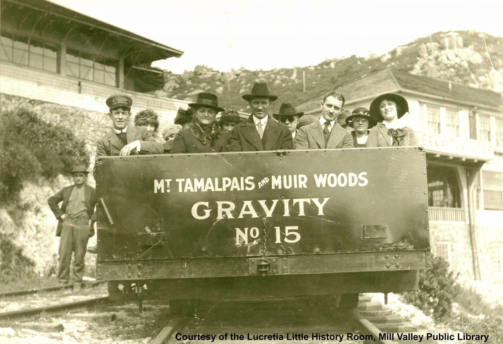Mt Tamalpais and Muir Woods Railroad Gravity Car on East Peak of Mt Tamalpais