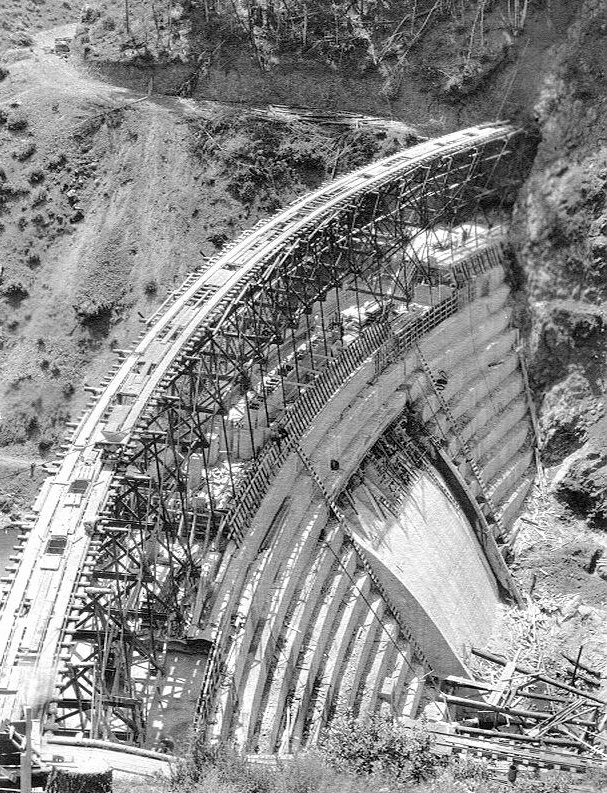 Alpine Dam Downstream Face - Aug. 19, 1918